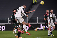Cristiano Ronaldo of Juventus FC scores a goal during the Serie A football match between Juventus FC and FC Crotone at Allianz stadium in Torino (Italy), February 22th, 2021. Photo Federico Tardito / Insidefoto