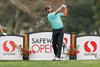 11th September 2020, Napa, California, USA;  Harold Varner III of the United States tees off during the second round of the Safeway Open PGA tournament on September 11, 2020 at Silverado Country Club in Napa, CA.