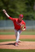 Philadelphia Phillies pitcher Spencer Howard (15) during a Minor League Spring Training game against the Toronto Blue Jays on March 29, 2019 at the Carpenter Complex in Clearwater, Florida.  (Mike Janes/Four Seam Images)