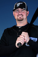 March 1, 2010:  Infielder Kyle Phillips (31) of the Toronto Blue Jays poses for a photo during media day at Englebert Complex in Dunedin, FL.  Photo By Mike Janes/Four Seam Images