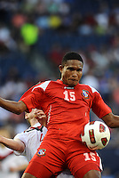 Eric Davis defender Panama controls the ball...Canada and Panama played to a 1-1 tie in Gold Cup play at LIVESTRONG Sporting Park. Kansas City Kansas.