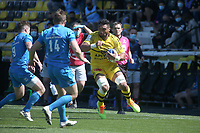 2nd May 2021; Stade Marcel-Deflandre, La Rochelle, France. European Champions Cup Rugby La Rochelle versus  Leinster Semi-Final;  Victor VITO Stade Rochelais runs into contact with McGrath of Leinster