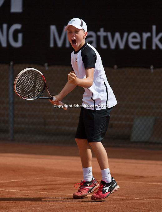 10-08-13, Netherlands, Rotterdam,  TV Victoria, Tennis, NJK 2013, National Junior Tennis Championships 2013,  Lodewijk Westrate wins boys  12 years<br /> <br /> Photo: Henk Koster