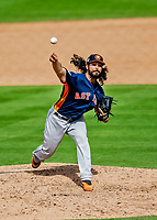27 February 2019: Houston Astros pitcher Ralph Garza Jr. on the mound in pre-season action against the Washington Nationals at the Ballpark of the Palm Beaches in West Palm Beach, Florida. The Nationals defeated the Astros 14-8 in their Spring Training Grapefruit League matchup. Mandatory Credit: Ed Wolfstein Photo *** RAW (NEF) Image File Available ***