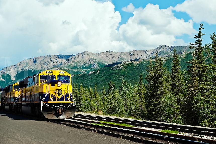 Alaska railroad train, Denali, Alaska