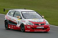 Round 1 of the 2005 British Touring Car Championship. #10. James Kaye (GBR). Synchro Motorsport. Honda Civic Type-R.
