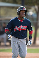 Cleveland Indians shortstop Miguel Eladio (7) during a Minor League Spring Training game against the Chicago White Sox at Camelback Ranch on March 16, 2018 in Glendale, Arizona. (Zachary Lucy/Four Seam Images)