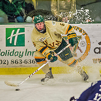 4 January 2014:  University of Vermont Catamount Forward Colin Markison, a Junior from Princeton, NJ, in third period action against the Yale University Bulldogs at Gutterson Fieldhouse in Burlington, Vermont. With an empty net and seconds remaining, the Cats came back to tie the game 3-3 against the 10th seeded Bulldogs. Mandatory Credit: Ed Wolfstein Photo *** RAW (NEF) Image File Available ***