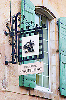 Domaine d'Aupilhac. Montpeyroux. Languedoc. The winery building. France. Europe.