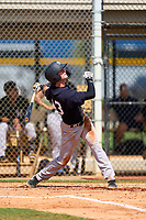 FCL Yankees Benjamin Cowles (43) bats during a game against the FCL Tigers West on July 31, 2021 at Tigertown in Lakeland, Florida.  (Mike Janes/Four Seam Images)
