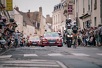 Yoann Offredo (FRA/Wanty Groupe-Gobert) solo's ahead and at some point manages to lead by more then 9 minutes<br /> <br /> Stage 7: Fougères > Chartres (231km)<br /> <br /> 105th Tour de France 2018<br /> ©kramon