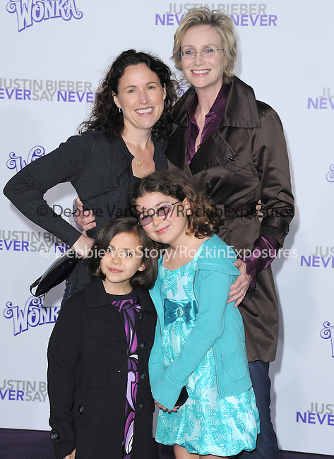 "Dr. Lara Embry , Jane Lynch and kids attends the Paramount Pictures' L.A. Premiere of ""JUSTIN BIEBER: NEVER SAY NEVER."" held at The Nokia Theater Live in Los Angeles, California on February 08,2011                                                                               © 2010 DVS / Hollywood Press Agency"