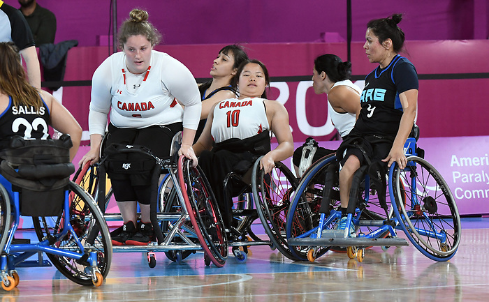 Arinn Young and Puisand Lai, Lima 2019 - Wheelchair Basketball // Basketball en fauteuil roulant.<br />