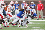 Rutgers Scarlet Knights running back Justin Goodwin (32) in action during the game between the Rutgers Scarlet Knights and the SMU Mustangs at the Gerald J. Ford Stadium in Fort Worth, Texas. Rutgers defeats SMU 55 to 52 in triple OT.