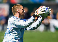 LA Galaxy goalkeeper Josh Saunders. The LA Galaxy and DC United play to 2-2 draw at Home Depot Center stadium in Carson, California on Sunday March 22, 2009.