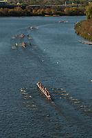 The Head of the Charles Regatta on the Charles River, Boston, Massachusetts, US, October 2007