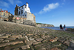 Great Britain, England, North Yorkshire, Robin Hood's Bay: start of the coast to coast walk