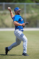 New York Mets outfielder Tim Tebow (15) during practice before a minor league Spring Training game against the Miami Marlins on March 26, 2017 at the Roger Dean Stadium Complex in Jupiter, Florida.  (Mike Janes/Four Seam Images)