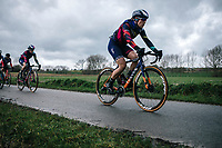 Elena Amialiusik (BLR/Canyon Sram Racing)<br /> <br /> 75th Omloop Het Nieuwsblad 2020 (BEL)<br /> Women's Elite Race <br /> Gent – Ninove: 123km<br /> <br /> ©kramon