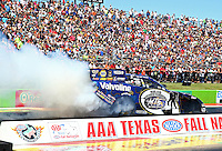Sept. 21, 2013; Ennis, TX, USA: NHRA funny car driver Jack Beckman during the Fall Nationals at the Texas Motorplex. Mandatory Credit: Mark J. Rebilas-