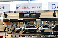 MELBOURNE 3 MARCH 2013 - Image of the Nuova Simonelli espresso machine of the 2013 AASCA Australian Barista Championship at the Melbourne Showgrounds. Photo by Sydney Low / syd-low.com