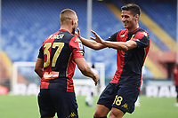 esultanza gol Marko Pjaca <br /> Serie A football match between Genoa CFC and FC Crotone at Marassi Stadium in Genova (Italy), September 20th, 2020. Photo Image Sport / Insidefoto