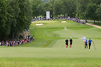 Wentworths 4th fairway and green during the BMW PGA Golf Championship at Wentworth Golf Course, Wentworth Drive, Virginia Water, England on 28 May 2017. Photo by Steve McCarthy/PRiME Media Images.
