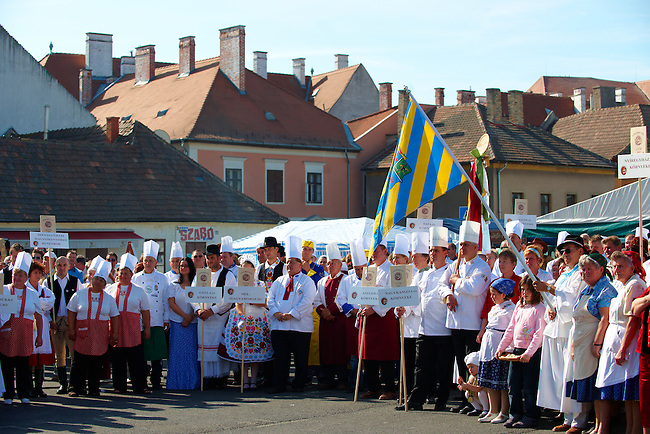 Competators at the Hungarian Regional Gastronomic Festival 2009 - Gyor ( Gy?r ) Hungary