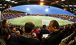 Rangers fans at the Excelsior Stadium in Airdrie