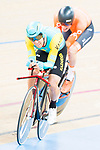 Dion Deukeboom of the Netherlands team and Artyom Zakharov of the Kazakhstan team compete in the Men's Individual Pursuit - Qualifying as part of the 2017 UCI Track Cycling World Championships on 14 April 2017, in Hong Kong Velodrome, Hong Kong, China. Photo by Marcio Rodrigo Machado / Power Sport Images