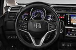 Car pictures of steering wheel view of a 2016 Honda Jazz Elegance 5 Door Hatchback Steering Wheel