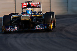 Jean-Eric Vergne of France and Scuderia Toro Rosso drives during the Abu Dhabi Formula One Grand Prix 2013 at the Yas Marina Circuit on November 3, 2013 in Abu Dhabi, United Arab Emirates. Photo by Victor Fraile / The Power of Sport Images