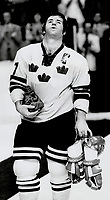 1976 FILE PHOTO - ARCHIVES -<br /> <br /> Swedish Captain Lars-Erik Sjoberg. Picked as most valuable player to his team last night<br /> <br /> <br /> Bezant, Graham<br /> Picture, 1976<br /> <br /> 1976<br /> <br /> PHOTO : Graham Bezant - Toronto Star Archives - AQP