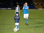 Dave Mackay Testimonial: St Johnstone v Dundee…06.10.17…  McDiarmid Park… <br />Dave Mackay applauds the fans with his children Louise and Calum<br />Picture by Graeme Hart. <br />Copyright Perthshire Picture Agency<br />Tel: 01738 623350  Mobile: 07990 594431