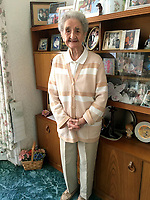 A 105-year-old woman who lived on the same street her entire life has died at home.