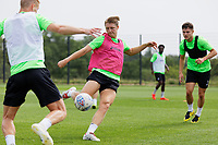 Pictured: George Byers of Swansea City in action during the Swansea City FC training session at the Fairwood training ground in Swansea, Wales, UK Saturday 29 June 2019Saturday 29 June 2019<br /> Re: Swansea City FC training, Fairwood, near Swansea, Wales, UK