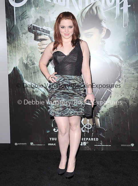 Jennifer Stone at The Warner Bros. Pictures World Premiere of Sucker Punch held at The Grauman's Chinese Theatre in Hollywood, California on March 23,2011                                                                               © 2010 Hollywood Press Agency