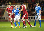 Aberdeen v St Johnstone…10.12.16     Pittodrie    SPFL<br />Steven MacLean battles with Ryan Jack<br />Picture by Graeme Hart.<br />Copyright Perthshire Picture Agency<br />Tel: 01738 623350  Mobile: 07990 594431
