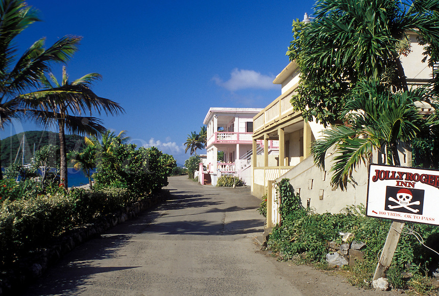 hotel, Tortola, West End, British Virgin Islands, Caribbean, BVI, Jolly Roger Inn at West End on the island of Tortola.