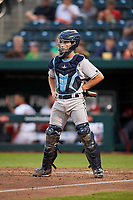 Corpus Christi Hooks catcher Garrett Stubbs (1) during a game against the Springfield Cardinals on May 31, 2017 at Hammons Field in Springfield, Missouri.  Springfield defeated Corpus Christi 5-4.  (Mike Janes/Four Seam Images)
