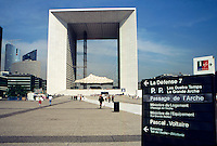 La Grande Arch de La Defense, in Paris's planned community satellite suburb of La Defense, Paris, France.