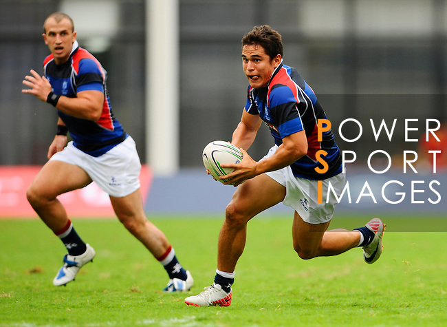 Hong Kong men play Mongolia during Day 1 of the HSBC Asian 7s at the Yuanshen stadium on August 27, 2011 in Shanghai, China. Photo by © Photo by © Victor Fraile / The Power of Sport Images for Fast Track / HSBC
