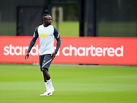 14th September 2021: The  AXA Training Centre, Kirkby, Knowsley, Merseyside, England: Liverpool FC training ahead of Champions League game versus AC Milan on 15th September: Sadio Mane of Liverpool