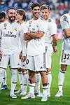 Real Madrid Daniel Carvajal and Marco Asensio during Santiago Bernabeu Trophy match at Santiago Bernabeu Stadium in Madrid, Spain. August 11, 2018. (ALTERPHOTOS/Borja B.Hojas)