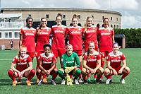 Boston, MA - Saturday July 01, 2017: Washington Spirit starting eleven during a regular season National Women's Soccer League (NWSL) match between the Boston Breakers and the Washington Spirit at Jordan Field.