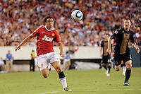 Rafael (21) of Manchester United. Manchester United (EPL) defeated the Philadelphia Union (MLS) 1-0 during an international friendly at Lincoln Financial Field in Philadelphia, PA, on July 21, 2010.