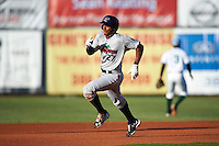 Fort Myers Miracle right fielder Edgar Corcino (27) during a game against the Daytona Tortugas on April 17, 2016 at Jackie Robinson Ballpark in Daytona, Florida.  Fort Myers defeated Daytona 9-0.  (Mike Janes/Four Seam Images)