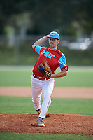 Casey Marshalwitz during the WWBA World Championship at the Roger Dean Complex on October 18, 2018 in Jupiter, Florida.  Casey Marshalwitz is an outfielder from Gibsonia, Pennsylvania who attends Hampton High School and is committed to Youngstown State.  (Mike Janes/Four Seam Images)