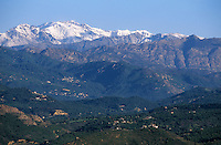 Europe/France/Corse/2A/Corse-du-Sud/Env de Cuttoli-Corticchiato: la vallée du Prunelli et les sommets