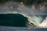 Surfer Dylan Southworth rides a wave at Puerto Escondido's Zicatela Beach in Mexico. Photo by Victor Fraile / Power Sport Images